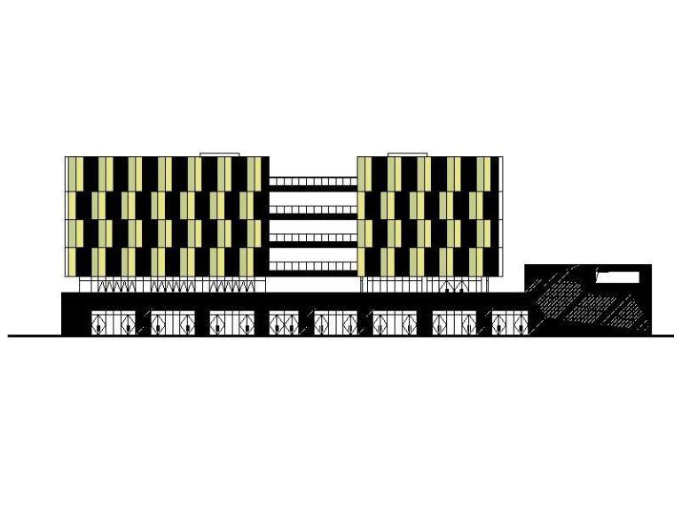 [成都]六层玻璃幕墙综合性商业楼建筑施工图(含农贸市场)