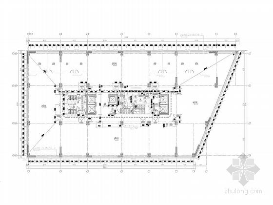 [上海]高层玻璃幕墙框架结构办公商业综合体建筑施工图(600多张图-高层玻璃幕墙框架结构办公商业综合体建筑平面图