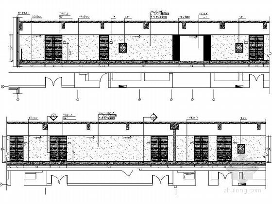 [深圳]高端商务核心区现代科技大厦室内装修图(含效果)走廊立面图