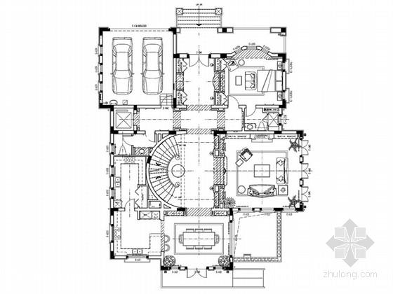 [杭州]美式风情豪华别墅样板间设计方案(含效果图)