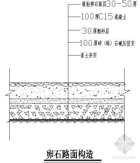 卵石路面构造详图-4