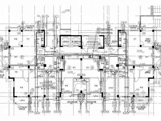 [浙江]城中村改造工程给排水消防施工图(甲级设计院)