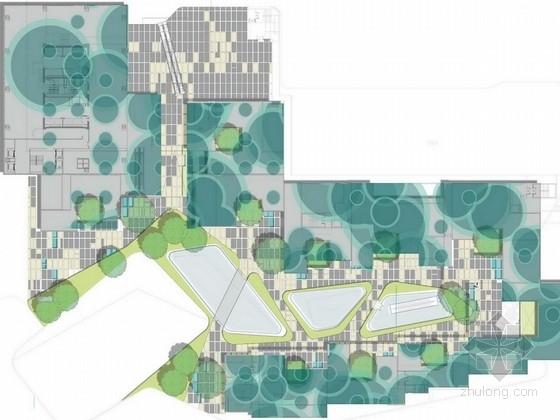 """[重庆]""""地貌演变""""概念商业休闲空间绿化景观扩初设计方案(知名设计公司)"""