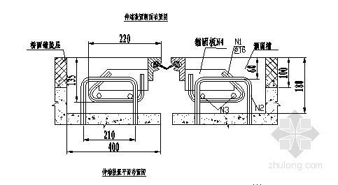F-80型桥梁伸缩装置安装示意图