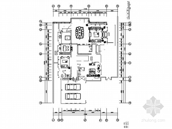 [重庆]精美绝伦豪华双层别墅室内装修施工图(含实景)