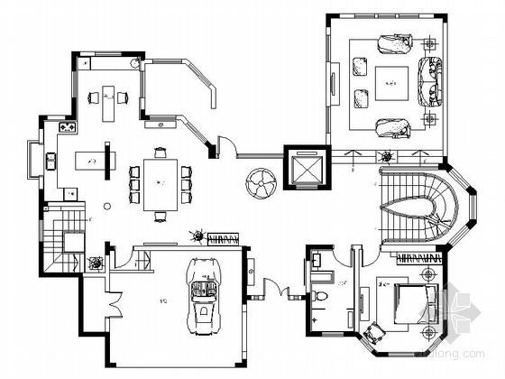 [大连]欧式古典三层别墅室内装修图
