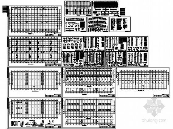 某24米跨混凝土柱钢梁结构厂房设计图