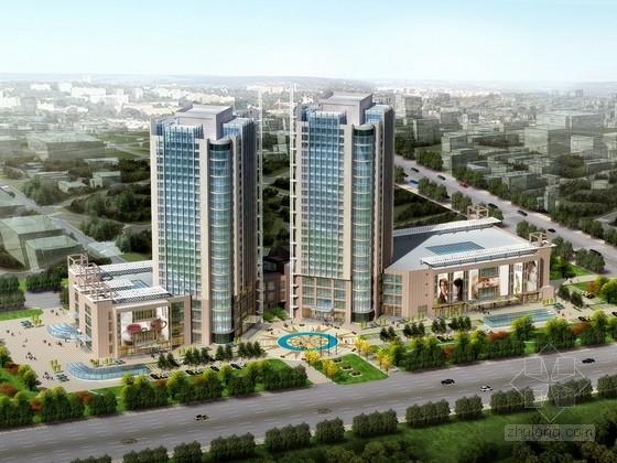 [山东]某24层商业综合体建筑方案文本(含PPT)