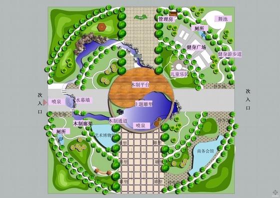 街头小公园景观设计方案