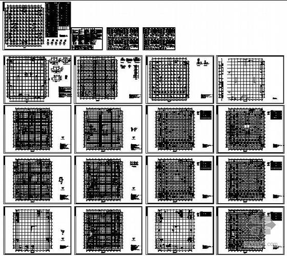 西安某框架商场结构设计图