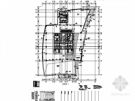 [深圳]56层玻璃幕墙办公大厦建筑设计施工图(含效果图知名设计院)-56层玻璃幕墙办公大厦建筑平面图