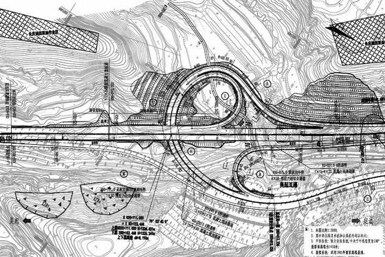 [陕西]2015年设计双向四车道高速公路主线及连接线图纸全套51册(路桥隧涵互通)