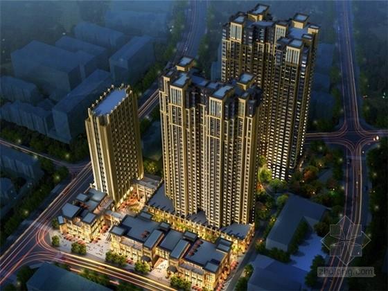 成都高层住宅cad资料下载-[成都]新古典超高层住宅及高层loft建筑设计方案文本