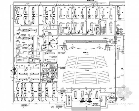 商业广场及活动中心空调通风防排烟系统设计施工图(地源热泵系统)