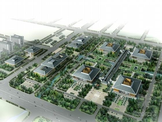 [海口]某新中式风格行政办公区规划设计方案文本