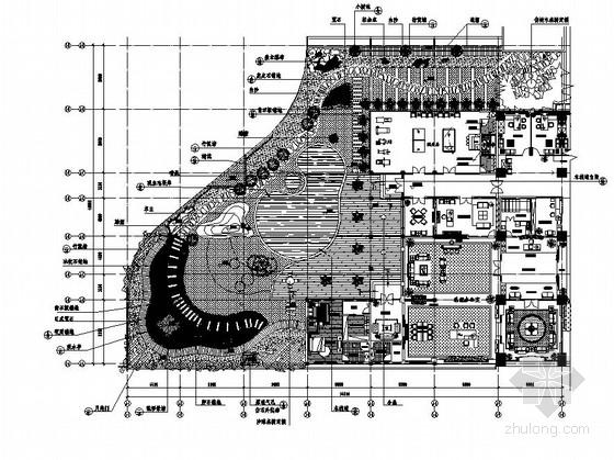 办公楼屋顶花园园林景观工程施工图