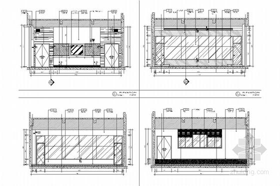 [江苏]省级重点实验中学对外交流中心室施工图 微格教室立面图