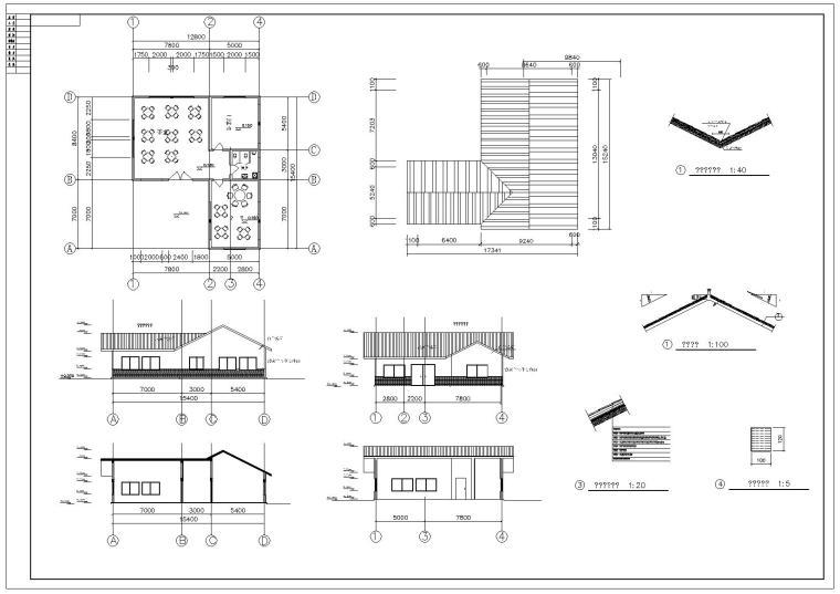 中式风格元素CAD图纸(含茶室、传统古建元素门窗、门扣、彩画)