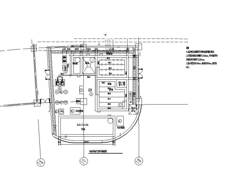 上海某商务大楼中水处理站建筑给排水图纸(CAD)