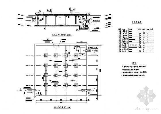 淄博某水处理厂清水池工艺图(课设)