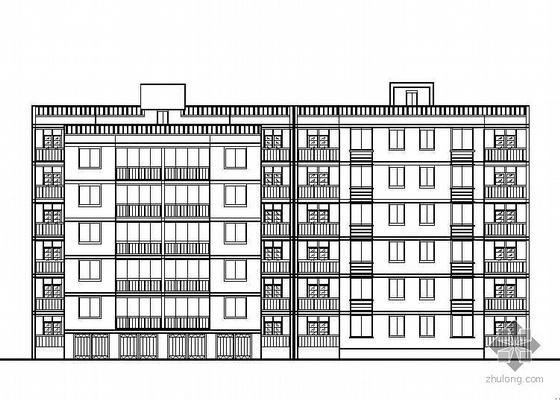 某小区住宅楼建筑施工图带效果图