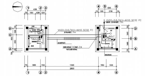 门卫室电气设计施工图