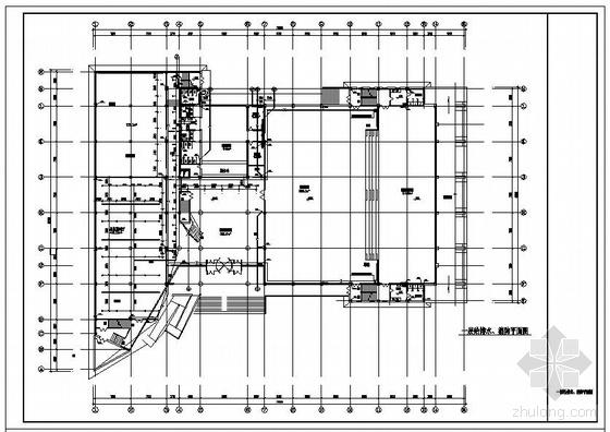 某三层办公楼给排水施工图图片