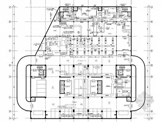vrv系统加新风资料下载-[山东]高层办公楼空调通风及防排烟系统设计施工图(大院出品 采暖设计)