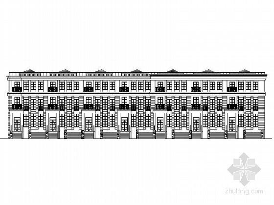 [营口]某三层七联排别墅建筑施工套图(26#、27#)