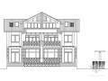 [新农村]某三层双拼住宅建筑方案