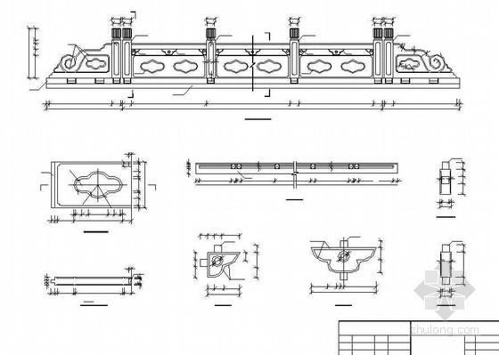 系杆拱桥人行道外侧栏杆构造节点详图设计