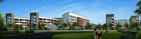 66班九年一贯制校园规划设计方案文本-66班九年一贯制校园规划设计效果图