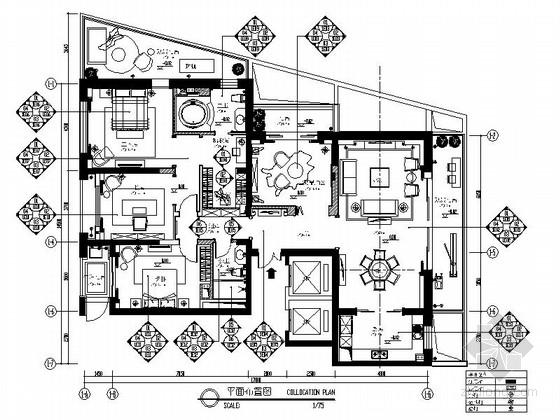[安徽]古典欧式设计四居室装修图(含效果)