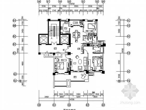 [成都]时尚现代三居室样板间设计装修图(含效果及手绘图)