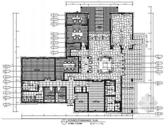 [海南]度假酒店服务保障楼现代风格服务中心室内装修施工图