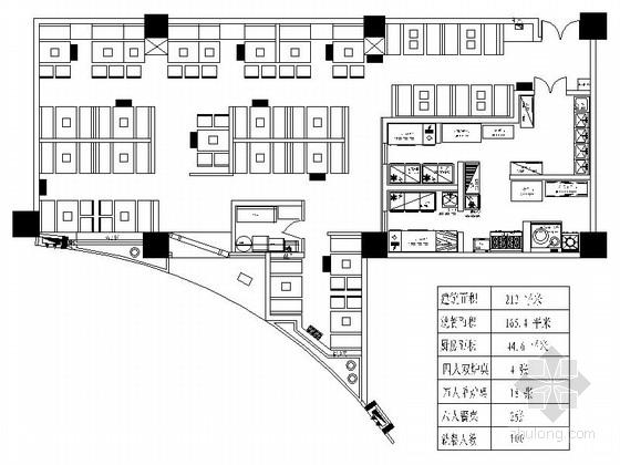 [东营]标准化特色餐饮品牌独特风情餐厅CAD装修施工图(含效果)