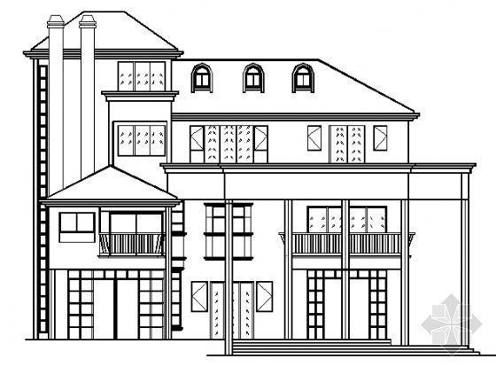 某三层半欧式别墅建筑方案图