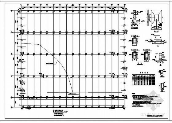 某五跨单层实腹式门式轻钢结构设计图