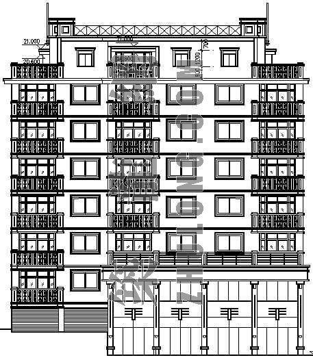 某住宅楼建筑设计方案图