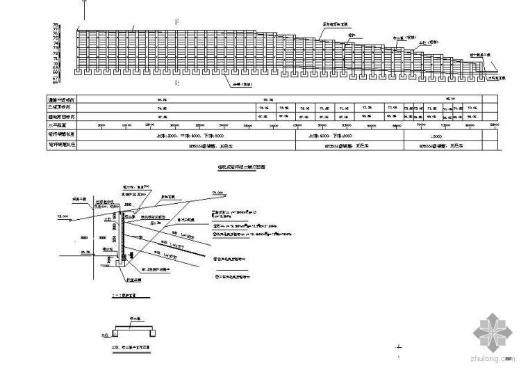 某高边坡柱板式锚杆挡土墙施工设计图