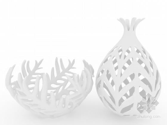 镂空柳条装饰品3d模型下载