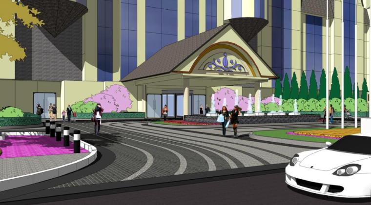 [山东]世界园艺博览会配套酒店景观设计(欧式风格)_2