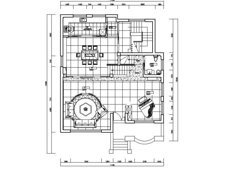 [北京]现代简约时尚个性别墅室内设计施工图(含效果图)