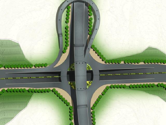 重庆2015年设计36m宽市政道路初步设计图纸186张CAD(路桥涵照明交通排水海绵城市)
