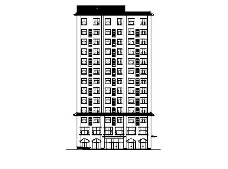 [宁夏]高层框剪结构综合办公楼建筑施工图