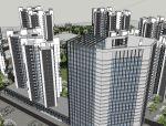 北京一居住小区建筑模型