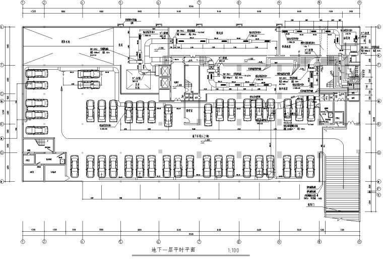 高层三星级大酒店暖通工程全套施工图纸