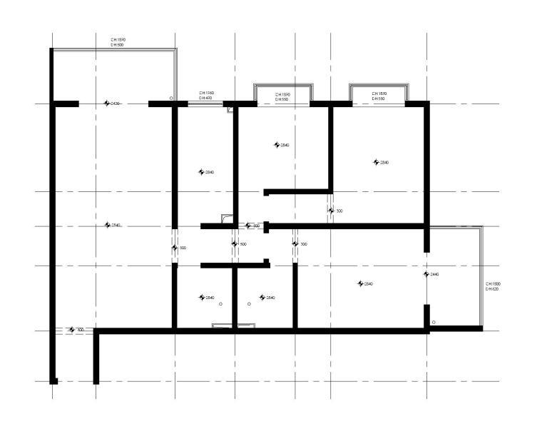 三居室改造成大两居室的改装方案(附施工图+效果图)