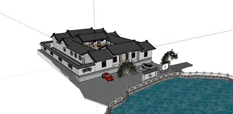 叶家老宅建筑模型(SU模型)-4