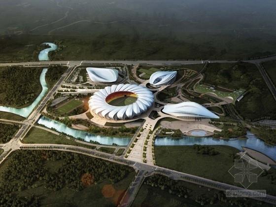 [合集]3套现代风格新颖造型文化体育中心建筑设计方案文本